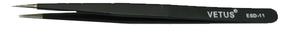Антистатический металлический пинцет DOKA-ESD-11
